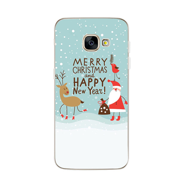 Hot Silicone Cover Case For Samsung S8 S9 Cute Snowman Fox Deer Elk Animal Capa For Samsung J530 A8 Plus 2018 TPU Coque
