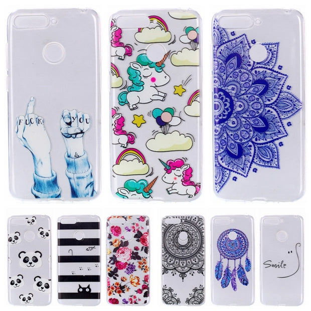 Huawei Honor 7A Pro Case Honor 7A Case Cartoon Silicone Soft TPU Slim Back Cover On For Huawei Honor 7 A Pro Honor7A 7APro Case