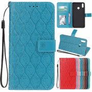 Huawei Honor 8X Leather Case On For Funda Huawei Honor 8X 8 X Cover 6.5 Inch Luxury Embossed Wallet Flip Stand Phone Cases Women