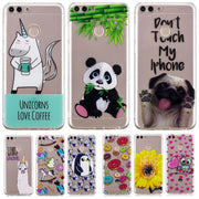 Huawei P Smart TPU Case On For Huawei Enjoy 7S Capa Slim Soft Silicone Back Cover For Huawei P Smart Cartoon Owl Case Coque