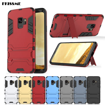 Hybrid Hard PC + TPU Anti-knock Cover For Samsung Galaxy S9 Plus Case Shockproof Iron Man Armor Case For Samsung S9 Phone Cases