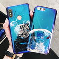 IMD Blue Light Case For Xiaomi Mi 8 Mi 6 Mi A2 Redmi Note 5 Pro Back Cover Soft Silicon Color Printed Note 5 Global Version