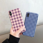 IMDGrid Phone Case For IPhone XSMAX XR XS X 8 7 6S 6 Plus Lattice Cute Fashion Soft Back Cover Cases For IPhone 10