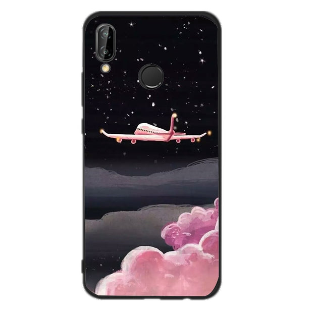 INS Style Painting Phone Case For Huawei P Smart TPU Case Fundas Cover For Huawei P20 P10 P8 P9LITE Mini 2017 Mate10 Lite