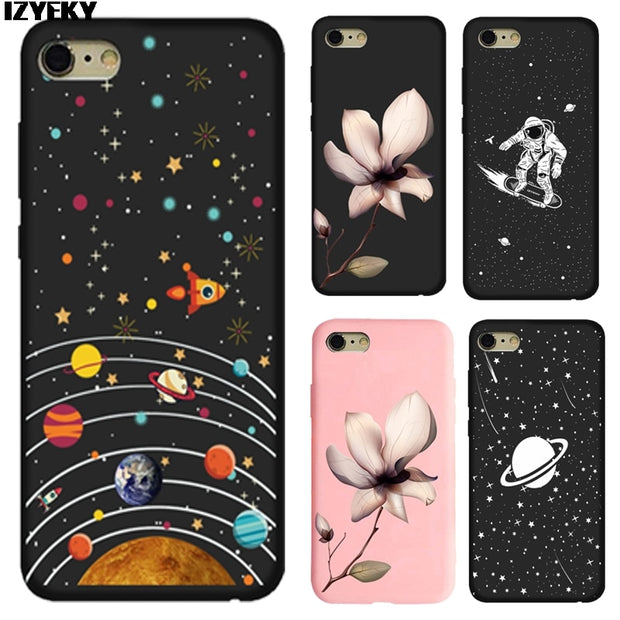 IZYEKY Case For Huawei Honor 10 Case Cover For Honor 10 Lite Space Universe Planet Soft Phone Cover For Honor10