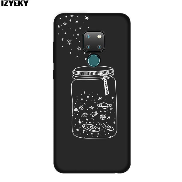 IZYEKY Case For Huawei Mate 20 Space Universe Planet Soft Phone Cover For Mate20 Pro Coque For Huawei Mate 20 Pro Case