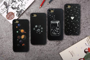 IZYEKY Case For Huawei P20 Lite Cute Universe Planet Moon Star Phone Back Cover For Huawei P20 Pro Coque Case For Huawei P20