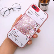 Ins Screenshot Quicksand Glitter Case For IPhone XR XS Max X(10) 8 Plus 8 7 6S 6 Plus Cute Bling Shell Cover Phone Cases EEMIA