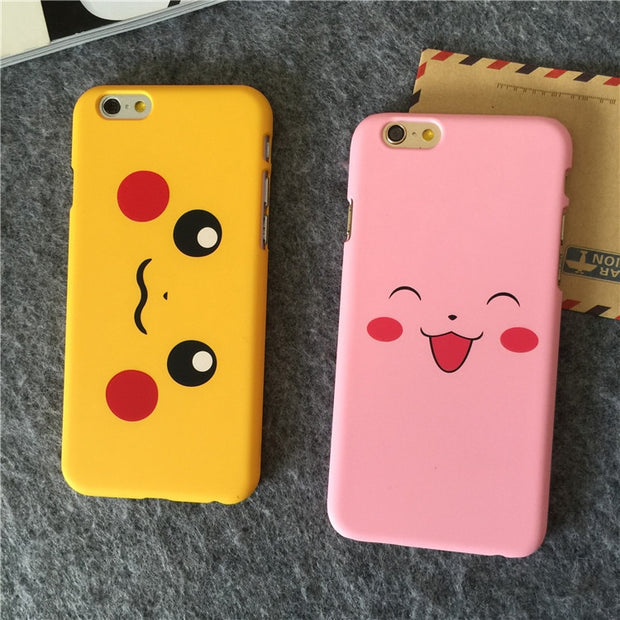 Interesting Hot Game Cartoon Lovely Phone Cases For IPhone 5 5S SE 6 6s 6/6splus Beautiful Yellow Pink Matte PC Phone Back Cover
