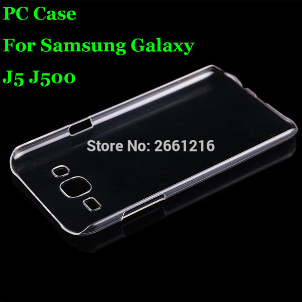 J5 J500 Hard PC Case Ultra Thin Clear Hard Plastic Cover Protective Skin For Samsung Galaxy J5 J500 J5008 J500F 5.0 Inch