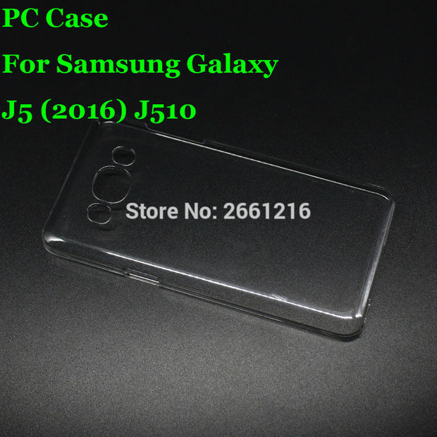 J5 J510 Hard PC Case Ultra Thin Clear Hard Plastic Cover Protective Skin For Samsung Galaxy J5 (2016) J510 5.2 Inch