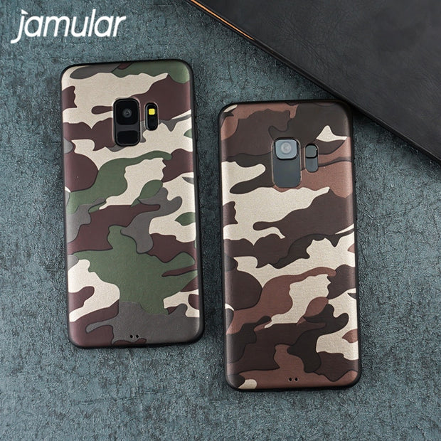 JAMULAR Cool Military Camouflage For Samsung Galaxy S8 Case Soft TPU Phone Cover Case For Samsung S9 S9Plus S8Plus Shell Capinha