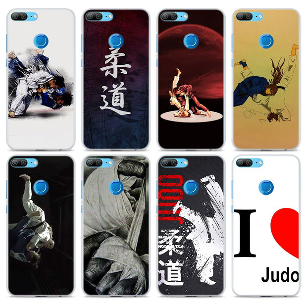 Janpan Judo Transparent Hard Phone Case Cover For Huawei Honor 8 9 Lite 10 10 Lite 8X 6X 7X 7S 4C 6C Pro