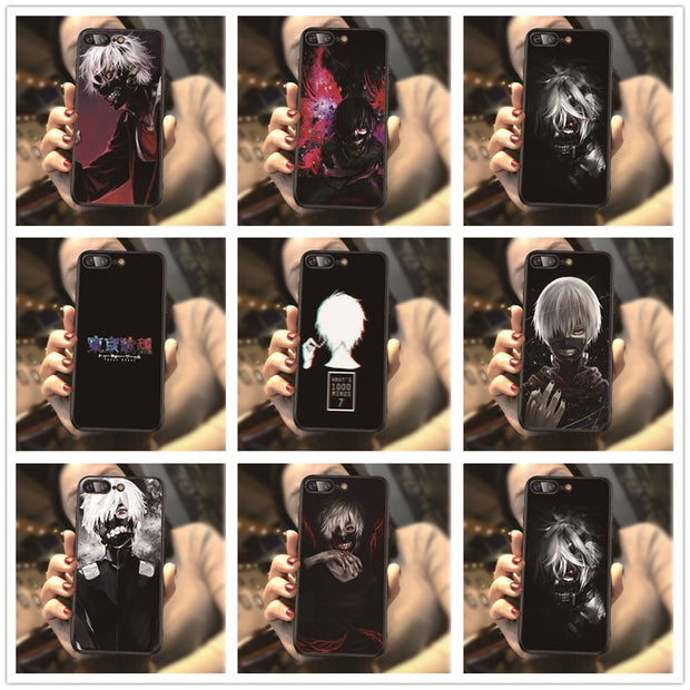 Japan Tokyo Ghoul Pattern Phone Cover For Iphone X XR XS MAX 5 5S 6 6S 7 8 Plus 7Plus 8Plus Black Silicone Sotf Cases