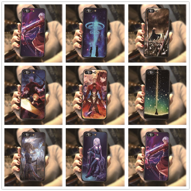 Japanese Anime Fate Stay Night Pattern Phone Cover For Iphone 7 8 Plus 7Plus 8Plus 5 5S 6 6S X XR XS MAX Sotf TPU Cases