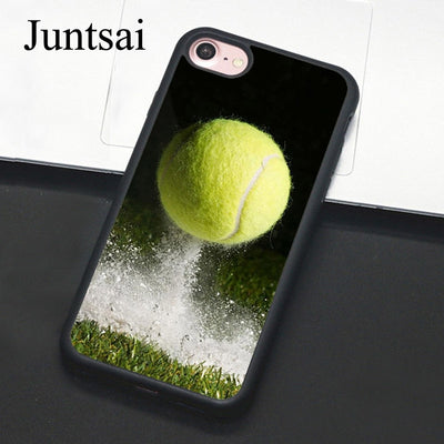 Juntsai Tennis Ball Sport Phone Case For IPhone 7 6 6s Plus Rubber Cover For IPhone7 8 Plus X 5 5s SE Full Back Shell