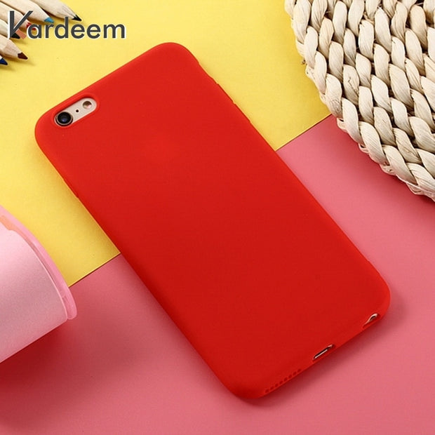 KARDEEM Case For Xiaomi Redmi 6A Note 6 Pro S2 Y2 4A 4X Mi A2 Lite Case Soft Bags Plain Covers Silicone Back Cover Skins Shell