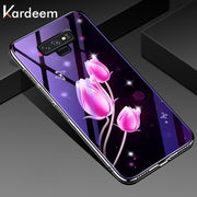KARDEEM Cases For Samsung Galaxy Note 9 Note9 S9 G960F Covers G960F/DS G960U G960W G9600 Printed Bags Glass Patterned Skins