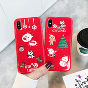 KASONPAI Merry Christmas Tree Case For IPhone XS MAX New Year Gift Cases For IPhone X 8 7 Plus 6S Plus 6 XS TPU Silicone Cover
