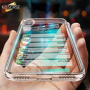 KISSCASE Soft TPU Transparent Case For IPhone X XR XS Max Back Cover Ultra Thin Silicone Cases For IPhone 6 6S 7 8 Plus 5 5S 4S
