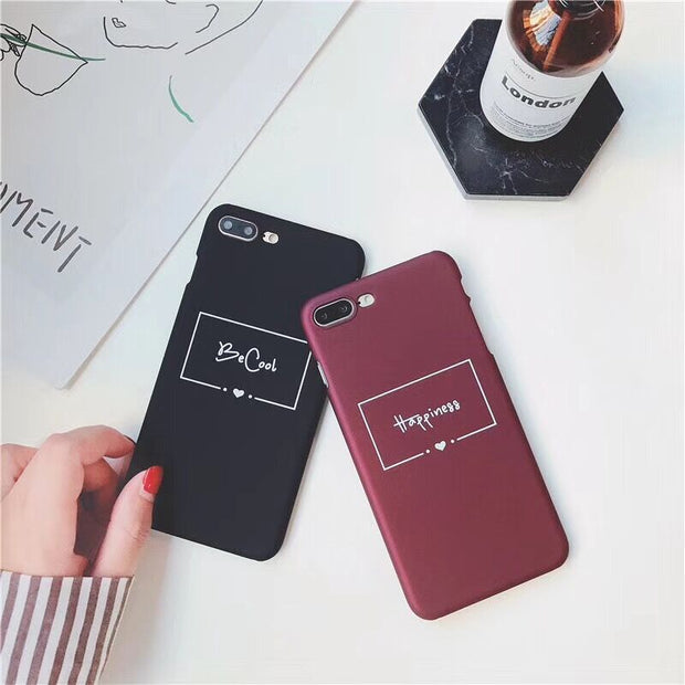 3e13795bf1 KL-Boutiques Cartoon Letter For IPhone 5 5S SE Case Couple Hard Scrub Back  Cover