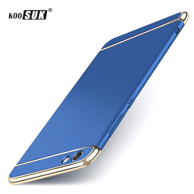 new product 3c388 939a1 Koosuk Back Cover For Vivo Y71 Cases Coque Full Protect Phone Case For VIVO  Y71 Y 71 Original PC Hard Shockproof Shell Blue Gold