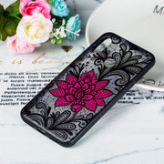 Lace Relief Flowers Phone Cases For Redmi 6 Pro Case Hard PC Back Cover TPU Frame Case Global Version For Xiaomi Mi A2 Lite 5.84