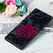 Lace Relief Flowers Phone Cases For Samsung Galaxy Note 9 Case Hard PC Back Cover TPU Frame Case For Galaxy Note9 N960F 6.4''