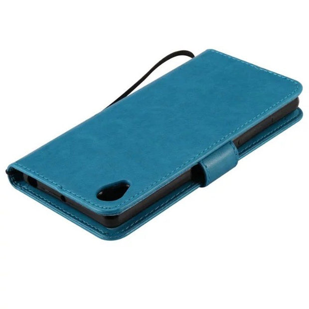 quality design 2a5e5 81c44 Leather Case For Coque Sony Xperia X F5122 F5121 Case Cover For ...