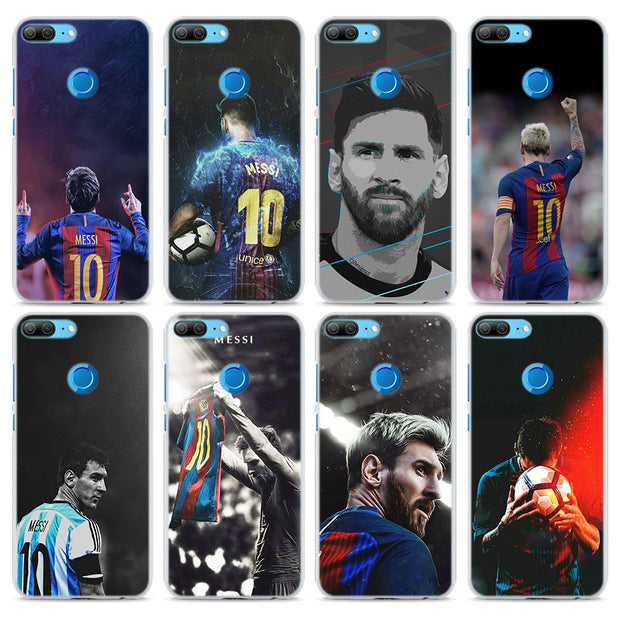 Lionel Messi Transparent Hard Phone Case Cover For Huawei Honor 8 9 Lite 10 10 Lite 8X 6X 7X 7S 4C 6C Pro