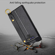 Litchi Grain Leather Case For Samsung Galaxy Note 9 S9 Plus Wrist Strap TPU Cover For Samsung Note 8 S8 Plus Slim Silicone Coque