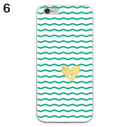 Love Heart Striped Print Phone Case Cover For IPhone 6 7 Plus