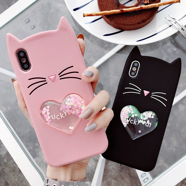 Lovely Carton Case For Samsung Galaxy J5 2016 J510 J7 2016 J710 Cover Silicon Liquid Back Cover Funda