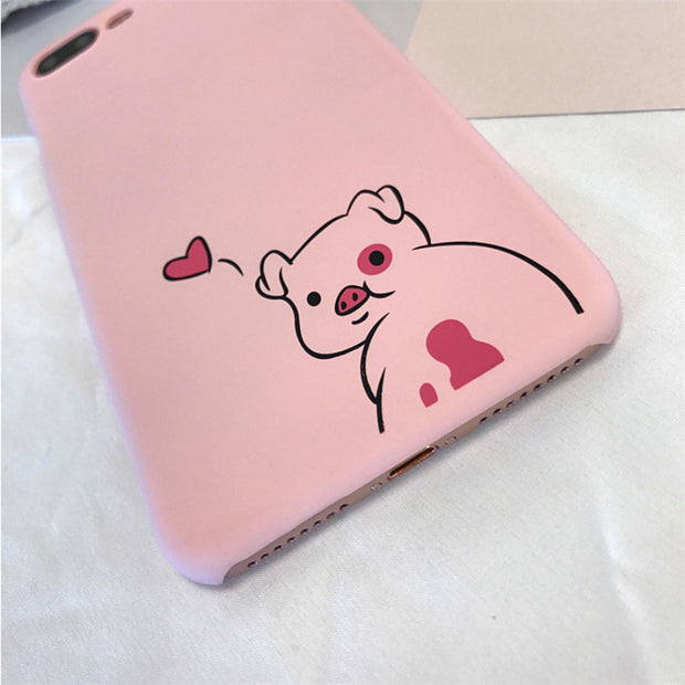 Lovely Cartoon Pig Hard Plastic Phone Case For Iphone 7 Funny Animal Funda Coque Case For Iphone 6 6S 7 8 Plus Back Cover