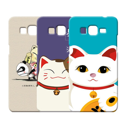 Lovely Fortune Cat Silicone Shell For Samsung Galaxy A3 A5 A7 A8 A9 2016 DIY Soft TPU Case For Samsung Galaxy Mega 6.3 I9200