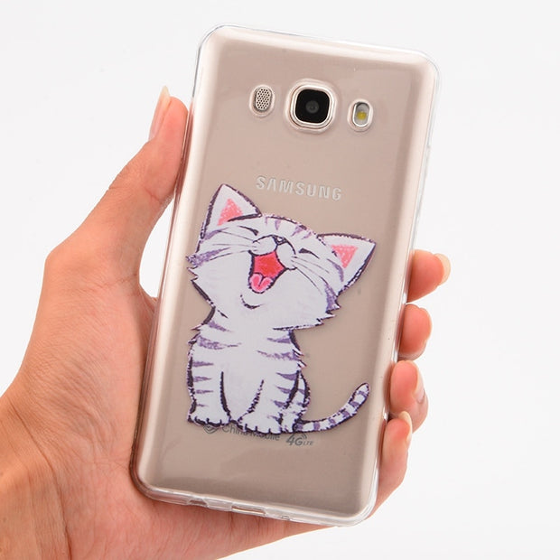 Lovely Silicone Cover Case For Samsung Galaxy S8 S7 S6 Edge S8 S9 A8 A6 Plus2018 J3 J5 J7 2016 2017 EU Soft Phone Case Fundas