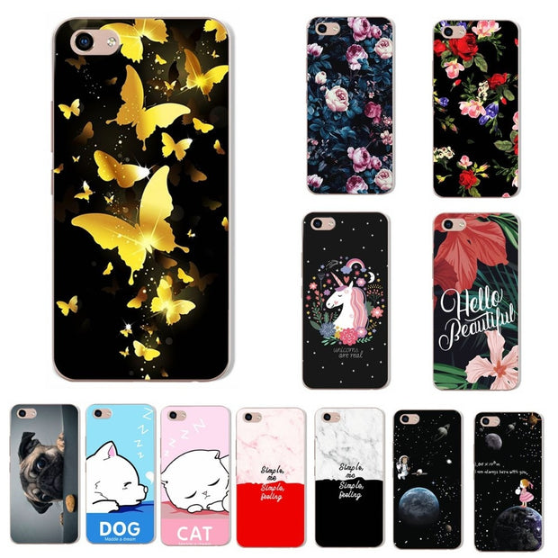 Lovers Soft Silicon TPU VIVO Y81 Phone Case For VIVO Y81 6.22'' Back Chic Butterfly Case Cover Coque For VIVO Y81 Y 81