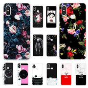 Lovers Vintage Flowers Tropical Style Chic Phone Case For Xiaomi Redmi Note 6 Pro 6.26''Back Cute Cat Cover For Redmi Note 6 Pro