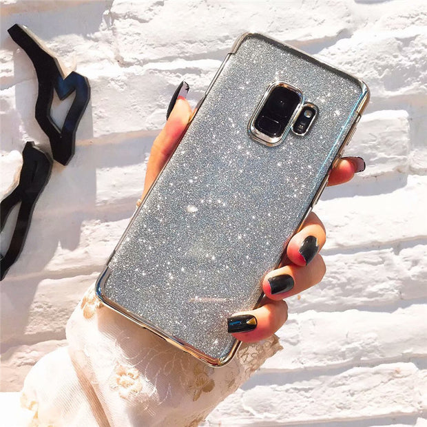 Luxury Bling Glitter Soft Phone Case For Samsung Galaxy J3 J4 J5 J6 J7 J8 A8 A6 Plus A7 2018 A3 A5 2017 J2 Pro Silicone Cover