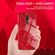 Luxury Bling Shell Soft Tempered Glass Cases For Huawei Mate 10 Lite 20 10 Pro 9 Mate20 Mate10 Mate9 Maimang 6 Cover Coque Case