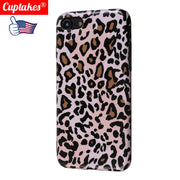 Luxury Brand IMD Soft Silicone Cover For IPhone Case XR X XS Max 7 8 Plus 6 6S Cute Cartoon Leopard Pattern Brown Vintag Floral