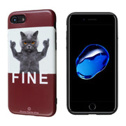 Luxury Brand Matte IMD Soft Silicone Cover For IPhone Case 7 Plus 8 X 10 XS Max XR 6 6S Cute Cat Love Fight Cartoon Cool Coque