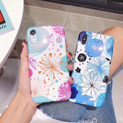 Luxury Brand New Glossy Bling Soft Silicone Cover For IPhone Case 7 8 Plus X 6 6S XR Max Cute Cartoon Love Flower Funda Coque