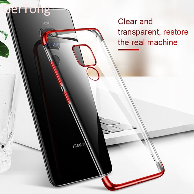 Luxury Clear Case For Huawei Honor 8X Max Note 10 8C 6C Pro Plating Cover For Huawei Matre 20 Pro Lite X Nova 3 3i P Smart Plus