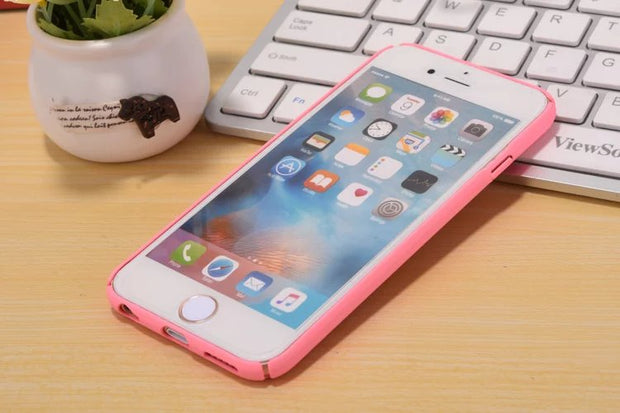 Luxury Coque For Apple IPhone6S Candy Color For IPhoneX 8 6Splus 5S Colorful Hard Frosted Skin Full Protection Phone Bags Fandas