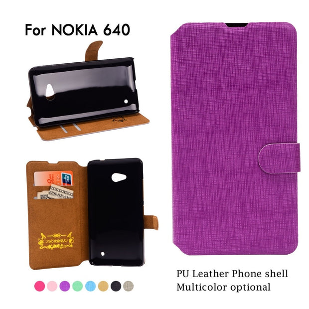 Luxury Flip Leather Case Funda For Nokia Lumia N640 640 N550 550 N650 650 N430 430 N530 530 N435 435 Cases Wallet Cover