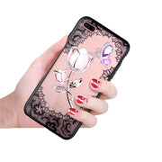 Luxury Flower Case For IPhone XS Max Case Transparent Anti-knock Protection Bumper For IPhone 7 6 6S 8 Plus XR Coque Fitted Case