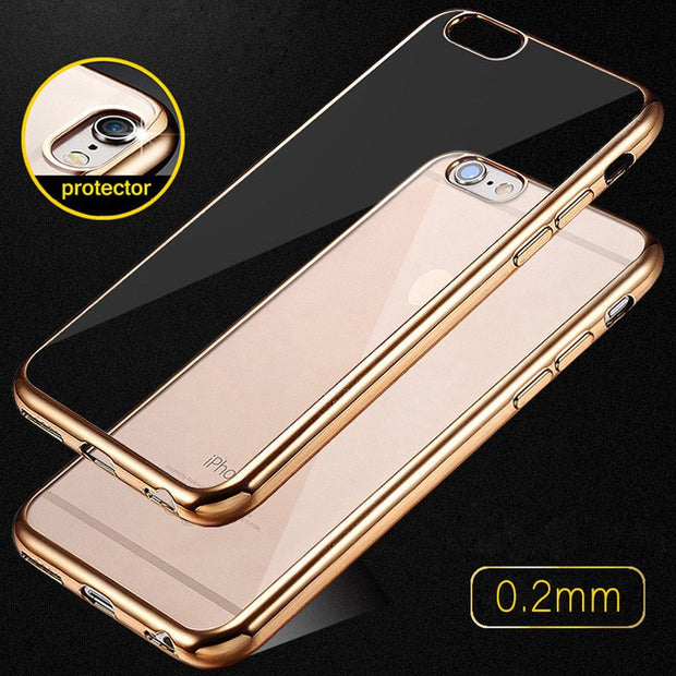 Luxury Glitter Soft Capa For Iphone7 Case Silicone Cover For Iphone 6 6S Plus Cases Transparent For 5S Iphone Se 5 Cases Coque