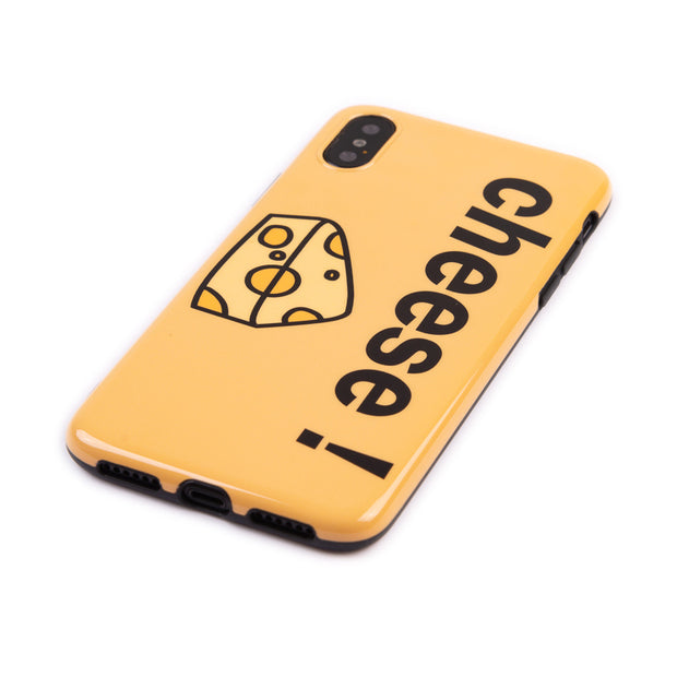 Luxury Glossy IMD Soft Silicone Case For Apple IPhone 7 8 Plus XR X 10 XS Max 6 6S Cover Cute Cheese Yellow Shell Fundas Jelly