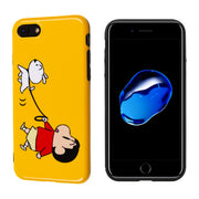 Luxury Glossy IMD Soft Silicone Cover For IPhone Case 7 8 X Plus 10 6 6S Cute Cartoon Kawaii Dog Family Happy Japan Boy Brand